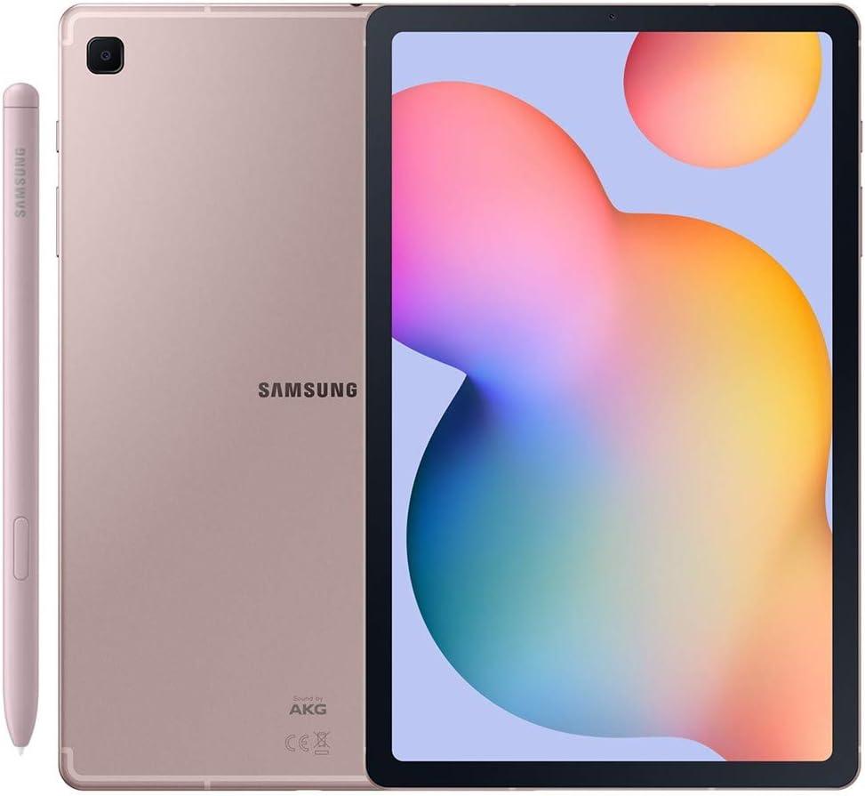 Samsung Galaxy Tab S6 Lite w/S Pen (64GB, WiFi + Cellular) 4G LTE Tablet & Phone (Makes Calls) GSM Unlocked SM-P615, International Model (Chiffon Pink)
