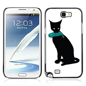 YOYOSHOP [Cat & Whale Funny Illustration] Samsung Galaxy Note 2 Case