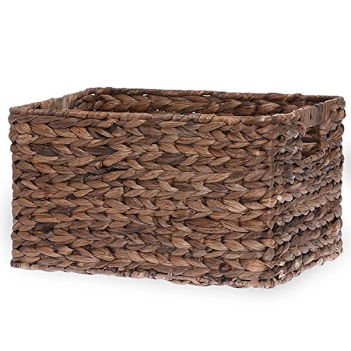 Natural Maize Storage Basket (The Lucky Clover Trading Rectangular Rush Utility Basket, Coffee Brown)