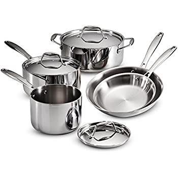 Tramontina 80116/248DS Gourmet 18/10 Stainless Steel Induction-Ready Tri-Ply Clad Set