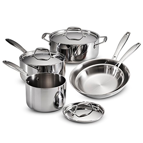 Tramontina 80116/247DS Gourmet 18/10 Stainless Steel Induction-Ready Tri-Ply Clad 8-Piece Cookware Set, by Tramontina (Image #8)