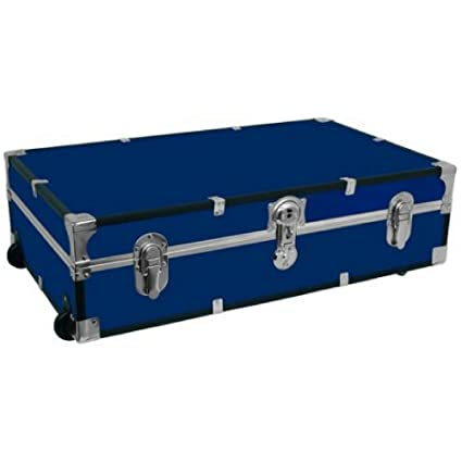 Charmant Under The Bed Wheeled Storage Trunk BLUE