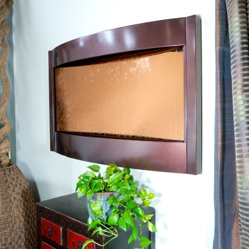 Contempo Falls Dark Copper and Bronze Mirror Wall Fountain by Bluworld by BluWorld