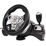 Nano RS600 Lenkrad PS3/PS2/PC(D-INPUT/X-INPUT) 4in1 Gas Bremspedale Pedale Steering Wheel Vibration Feedback
