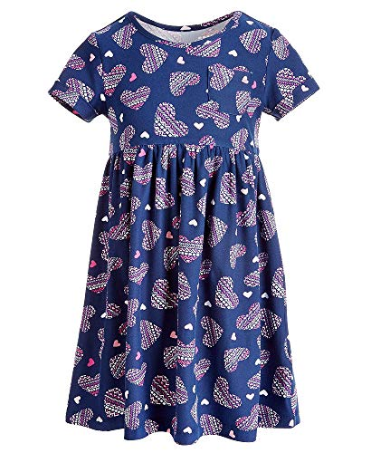 Epic Threads Little Girls Printed Pocket Dress (Dark Blue, -