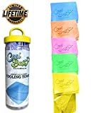 Cooling Towel - Workout / Tennis / Golf / Biking - Best For Any Sport Activities & Athletes Cold Towel - Chilly Pad By Cool Besty - Instant Cooling Snap Towel - Perfect For Fitness & Gym - YELLOW