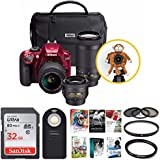 Nikon D3400 Triple Lens Parents DSLR Camera Kit + 32GB Card + Great Savings Holiday Bundle