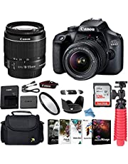 $479 » Canon EOS 4000D/Rebel T100 DSLR Camera Bundle with Canon EF-S 18-55mm f/3.5-5.6 is II Lens + Gadget Case + Sandisk 128GB Ultra Memory Card + Photo Software Suite + Accessory Kit+Inspire Digital Cloth.