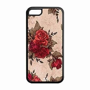 Lmf DIY phone caseiphone 5c Protective Case -Custom STYLE (331) Novel Flower Snap On TPU Cell Phone Case Cover for iphone 5cLmf DIY phone case