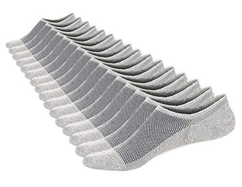 cks Men & Women Cotton Non Slip Grey Low Cut Invisible Loafer Socks Mesh Knit Shoe Size 6-11 Sock Size 10-13 Pack of 8 ()