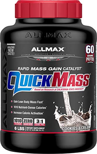 (ALLMAX Nutrition QuickMass Rapid Mass Gain Catalyst, Cookies & Cream, 6 lbs)