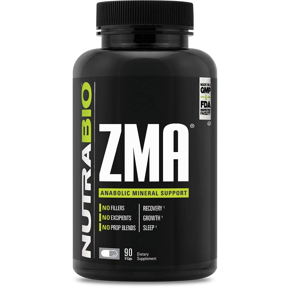 NutraBio ZMA Supplement – 180 Capsules