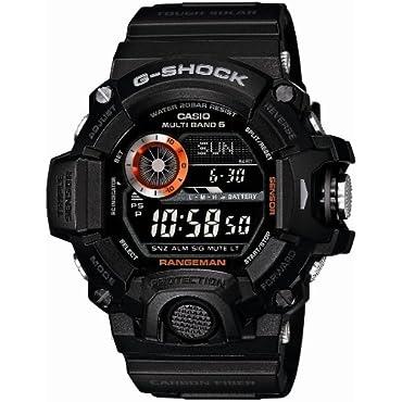 Casio GW-9400BJ-1JF G-Shock Master of G Rangeman Digital Solar Black Carbon Fiber Insert Men's Watch