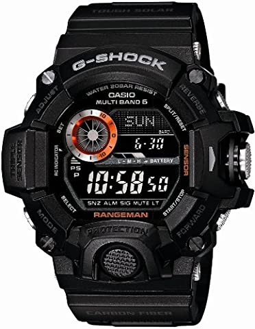 Casio Men's GW-9400BJ-1JF G-Shock Master of G Rangeman Digital Solar Black Carbon Fiber Insert (Gshock Watches Master Of G)