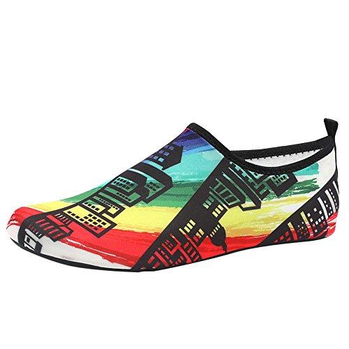 Multicolore Chaussures Homme L'eau Plage Femme Surfer Exercice Pieds pjzVMqGLSU