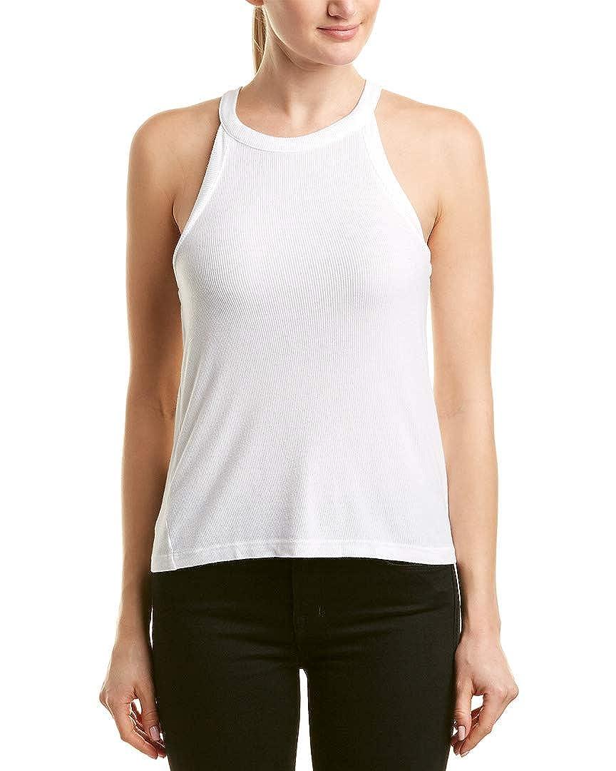 3aa25eaf3d5f8 Amazon.com  Michael Stars Women s 2X1 Rib Sleeveless Halter Tank Black One  Size  Clothing