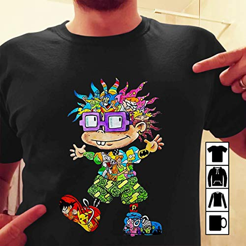 (The 90s all character Chuckie Finster T-Shirt Sweatshirt Long Sleeve)