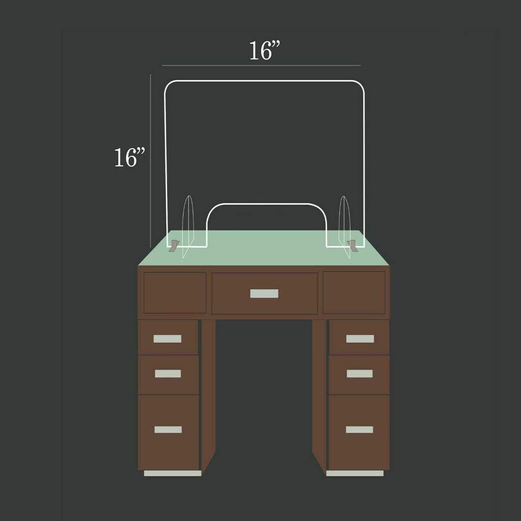 trasparente da contatore di protezione portatile Protezione per starnuti ufficio al dettaglio Kamenda spessore: 3 mm per negozio 40 x 40 cm