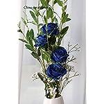 JUSTOYOU-10pcs-Artificial-Rose-Silk-Flower-Blossom-Bride-Bouquet-for-Home-Wedding-Decor-Blue