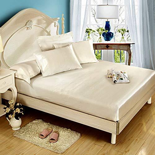 Niagara Sleep Solution Queen Cream Bed Sheet Set 4 Pieces