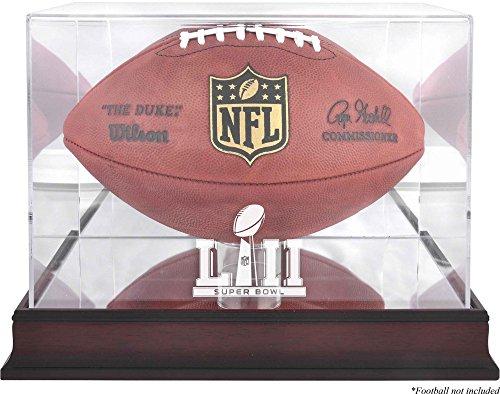 Sports Memorabilia Super Bowl LII Mahogany Football Logo Display Case - Fanatics Authentic Certified - Football Logo Display Cases (Engraved Football Display Case)