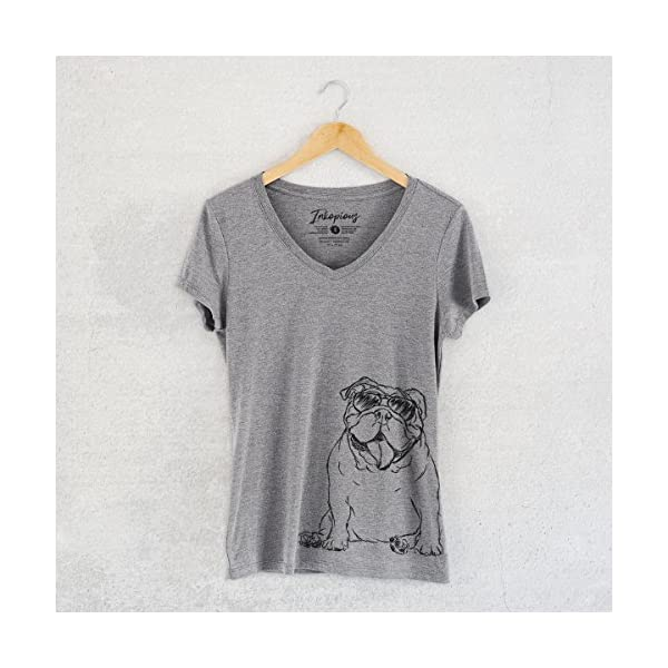 Inkopious Tank The English Bulldog Women's Triblend T-Shirt 3