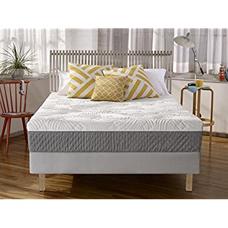 Sleep Innovations Shea 10 Inch Memory Foam Mattress With Quilted Cover Made In The USA With A 20 Year Warranty Queen Size