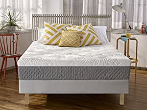 Sleep Innovations Shea 10-inch Memory Foam Mattress with Quilted Cover, Made in the USA with a 20-Year Warranty - Queen Size