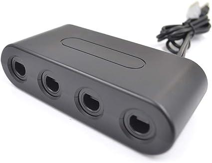 Pepional - Adaptador de Mando de 4 Puertos para Wii U, Nintendo ...