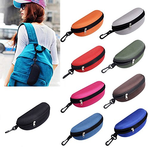 bjduck99 Travel Portable Zipper Eye Glasses Clam Shell Sunglasses Protect Hard Case Box by bjduck99 (Image #1)