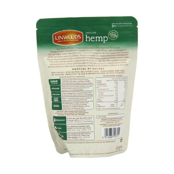 Linwoods Shelled Hemp 225 g (Pack of 2)
