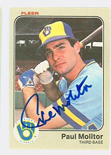 Paul Autograph Molitor (Paul Molitor AUTOGRAPH 1983 Fleer #40 Milwaukee Brewers)