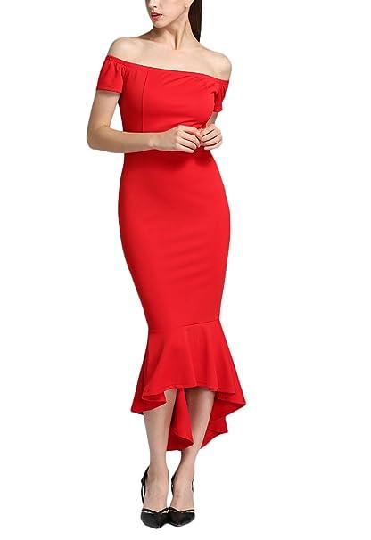Mujer Vestidos De Fiesta para Bodas Largos Vestir Verano Elegantes Vintage Años 50 Ajustados Sirena Vestidos
