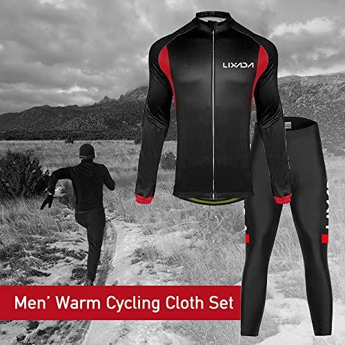 A Calda Set Giacca Antivento Maniche Ciclismo In Lixada Per Mountain Nero Lunghe Jersey Rosso Bike XgqUq8