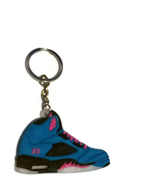 size 40 2fc2b fbf62 Air Jordan 5/V AJ5 Tropical Teal/Digital Pink Sneakers Shoes Keychain  Keyring AJ 23 Retro Playoff