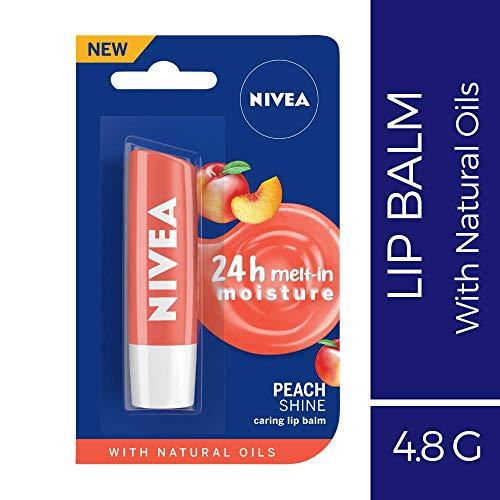 Lovely Lips Peach (Nivea Lip Balm - Fruity Shine PEACH -Pack of 1)