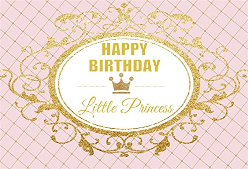 AOFOTO 6x4ft Happy Birthday Little Princess Photography Backdrop Royal Sweet Abstract Crown Background Party Decoration Banner Photo Studio Props Infant Kid Newborn Baby Girl Portrait Vinyl Wallpaper -