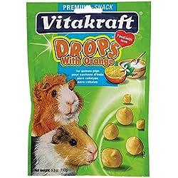 Vitakraft Guinea Pig Orange Drops Treat, 5.3 Ounce Pouch