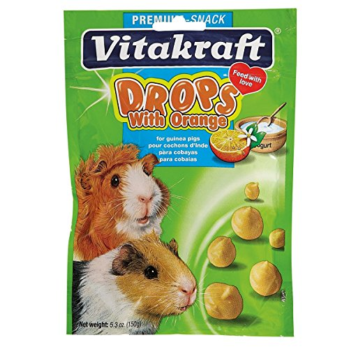 Vitakraft Guinea Pig Orange Drops Treat, 5.3 Ounce Pouch