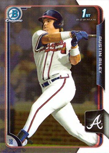 2015 Bowman Draft Chrome Baseball #157 Austin Riley Pre-Rookie Card - 1st Bowman Chrome Card