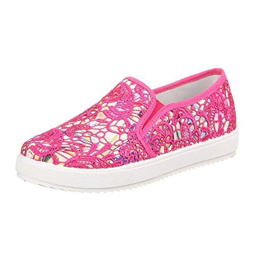 Mujer baja Multi Design Colores Ital Pink zapatilla Varios Awtx4f