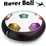 Bldaxn Hover Soccer Ball, Size 4 Air Power Football Foam Bumpers Powerful Led Lights, Kids Toys Training Soccer Indoor Outdoor Parents Game