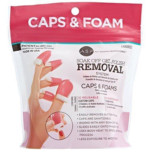 Soak Off System - ASP Soak Off Gel Polish Caps & Foam Pads