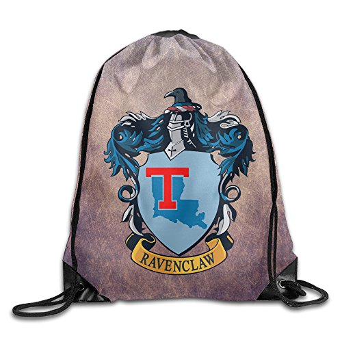 [PKTWO Cinch Pack Louisiana Tech University Ravenclaw Crest Travel Drawstring Bag] (Ravenclaw Mascot)
