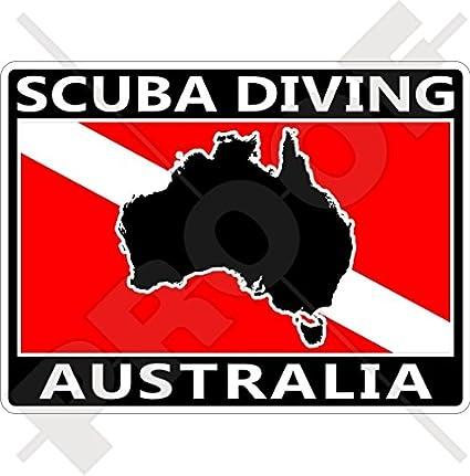 Australia Map Shape.Amazon Com Australia Scuba Diving Flag Australian Map Shape 100mm