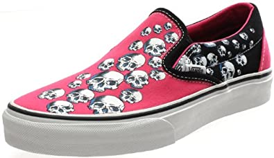 Vans Classic Slip On (Warped Tour Skull Trail) Neon Pink Black Neon ... 479c44aa9