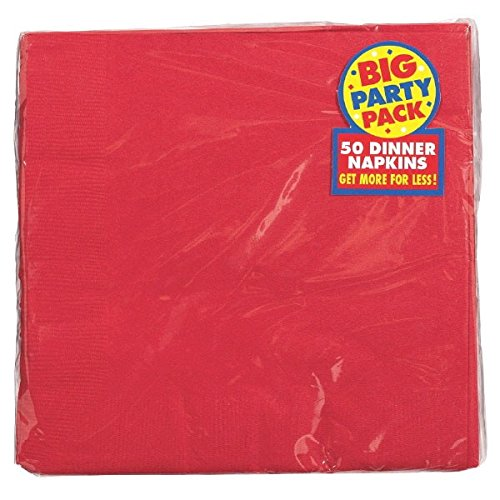 (Apple Red 2-Ply Dinner Napkins Big Party Pack, 50 Ct.)