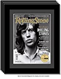 CreativePF [4pk1214bk-b] Collectors Edition Rolling Stones Magazine Frame, Displays 1967 Thru 2016 Magazines Measuring 10.5 by 12.5-inches w/ Black Matting and Wall Hanger