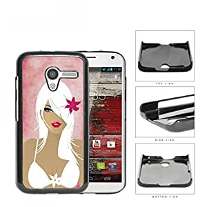 Pretty Girl With White Hair In Bathing Suit Hard Plastic Snap On Cell Phone Case Motorola Moto X