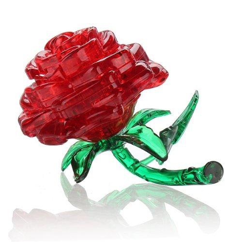 big sale 40795 5597a sortie TOOGOO(R) Puzzle Crystal 3D Rose fleur 44 PSC LED Lumineux cadeaux de